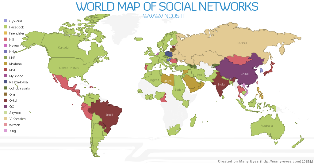 World map of social networks the world map gumiabroncs Images