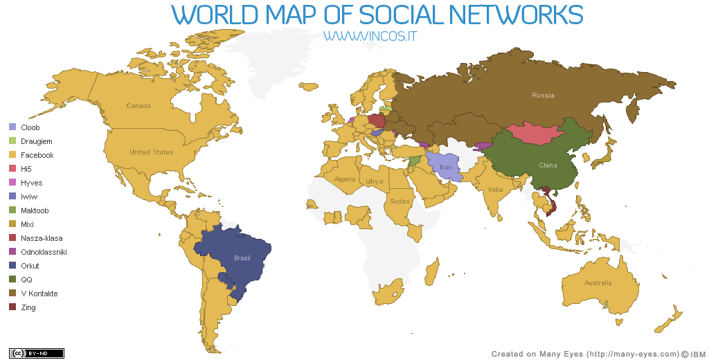 Worksheet. World Map of Social Networks