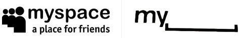 Logo MySpace - prima e dopo