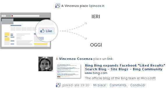 nuovo funzionamento facebook like