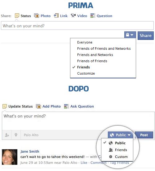 facebook impostazioni di visibilità dei post