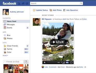 visit button facebook