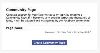 Facebook-community-page