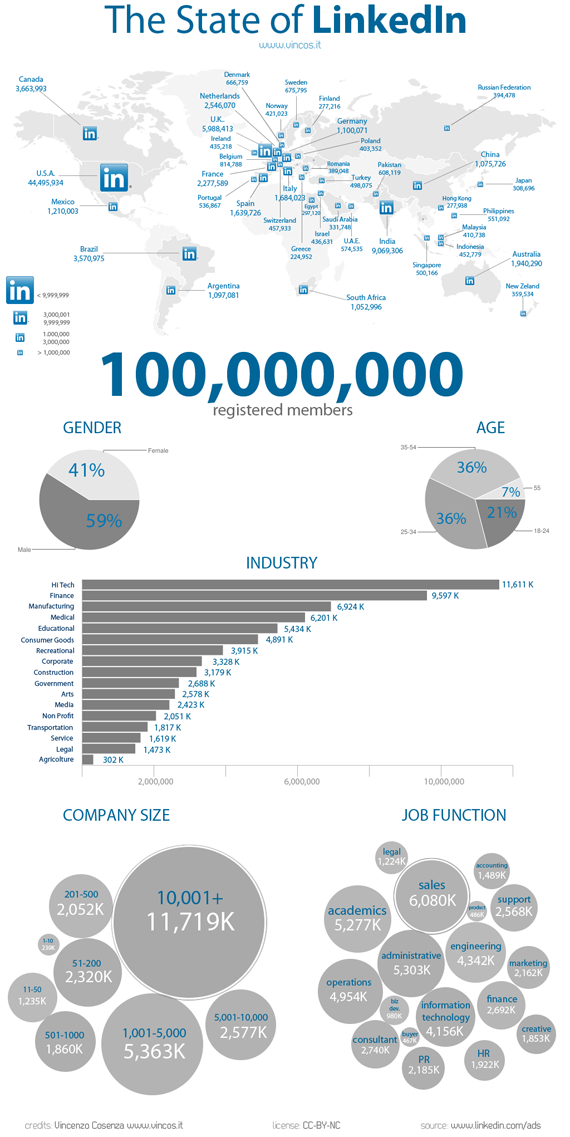 State of LinkedIn 2011 Infographic
