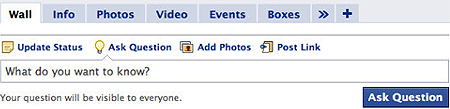 Facebook lancia Questions. E' la fine di Yahoo! Answers ?